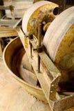 Oude workshop malende wielen Royalty-vrije Stock Foto's
