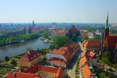 Oude Wroclaw, Polen stock afbeeldingen
