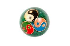 Oude yin yang bal Stock Afbeelding