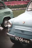 Oude Zaporozhets-auto's Royalty-vrije Stock Foto