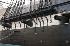Oude Zeegunship Royalty-vrije Stock Afbeelding