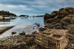 Oude zeekreeftval Stock Foto