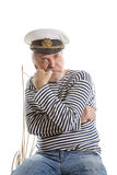 Oude zeemansmens Stock Foto