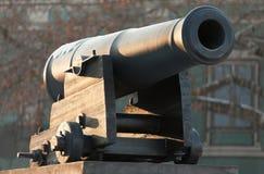 Oude zeevaart van het kanon Stock Foto