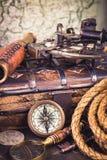 Oude zeevaartinstrumenten Royalty-vrije Stock Afbeelding