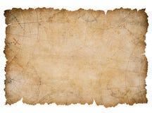 Oude zeevaartschatkaart met gescheurde geïsoleerde randen Royalty-vrije Stock Foto's