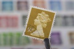 Oude zegel van het UK stock foto's