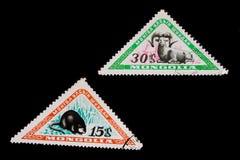 Oude zegels van Mongolië Stock Afbeelding