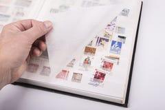 Oude zegelsinzameling royalty-vrije stock afbeeldingen