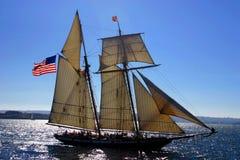 Oude Zeilboot royalty-vrije stock afbeeldingen