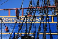 Oude zeilboot, Stockholm, Zweden Royalty-vrije Stock Afbeelding
