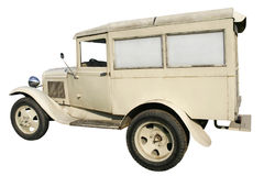 Oude ziekenwagenauto Stock Foto