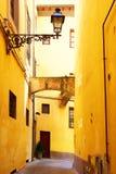 Oude zijstraat Royalty-vrije Stock Fotografie