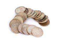 Oude Zilveren Dollars Stock Afbeeldingen