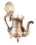 Oude zilveren theepot Stock Foto