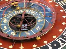 Oude zodiacal klok Stock Afbeelding