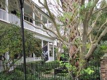 Oude zuidelijke charme en schoonheid in Charleston, Sc Stock Fotografie
