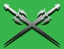 Oude zwaarden stock illustratie
