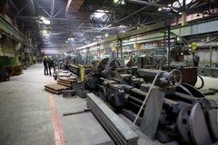 Oude zware fabriek Royalty-vrije Stock Afbeeldingen