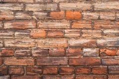 Oude zwart-wit bakstenen muur Royalty-vrije Stock Afbeeldingen