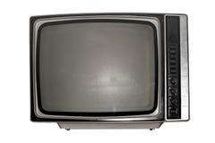 Oude zwart-witte TV met het donker scherm royalty-vrije stock foto