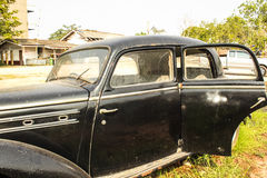 Oude zwarte Auto Royalty-vrije Stock Afbeelding