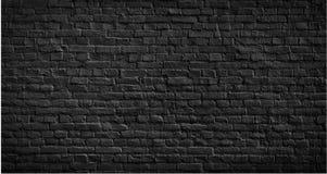 Oude zwarte bakstenen muurachtergrond Stock Afbeeldingen