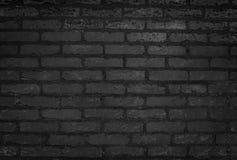 Oude Zwarte Bakstenen muurtextuur en Close-upachtergrond royalty-vrije stock afbeeldingen
