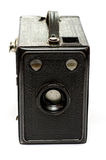 Oude zwarte dooscamera stock afbeeldingen