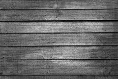 Oude zwarte houten textuur Stock Foto's