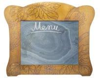 Oude zwarte raad voor menu Royalty-vrije Stock Foto's