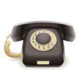 Oude zwarte telefoon Stock Foto's
