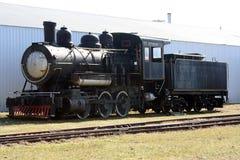 Oude zwarte trein Royalty-vrije Stock Afbeelding