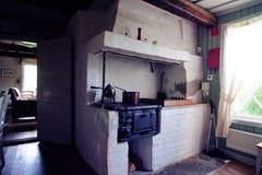 Oude Zweedse keuken Stock Foto