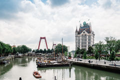Oudehaven, Old Harbour In Rotterdam Royalty Free Stock Image