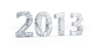 Oudejaarsavond 2013. Bevroren 2013 Stock Afbeeldingen