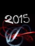 Oudejaarsavond 2015 met Abstracte Lichten Stock Foto's