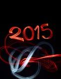 Oudejaarsavond 2015 met Abstracte Lichten Royalty-vrije Stock Afbeelding