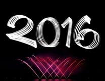 Oudejaarsavond 2016 met Vuurwerk Royalty-vrije Stock Fotografie