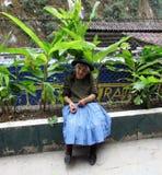 Ouder in Aquas Caliente Peru royalty-vrije stock foto