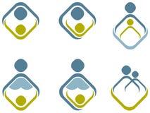 Ouder en kind vector illustratie