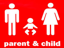 Ouder en kindteken stock fotografie
