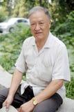 Ouder man portret openlucht Stock Fotografie