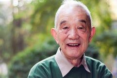Ouder mensenportret openlucht Stock Foto