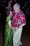 Ouder paar die dansen, stock fotografie