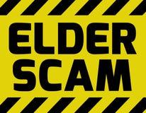 Ouder Scam-teken royalty-vrije illustratie