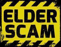 Ouder Scam-teken vector illustratie