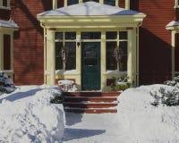 Oudere Noordamerikaanse Huisingang royalty-vrije stock fotografie