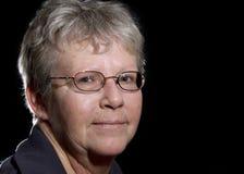 Oudere Vrouw in Schaduwen royalty-vrije stock fotografie