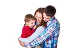 Ouders die met zoon spelen Royalty-vrije Stock Afbeelding